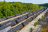 Liquified petroleum gas railway tanks