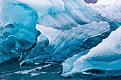 Blue ice of a glacier, Antarctica