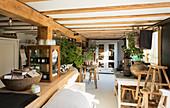 Sunny plant nursery interior