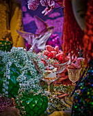 Festive table with candied fruits