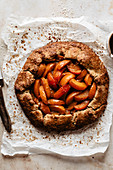 Sweet galette with apricots and cardamom