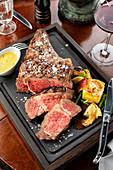 A Grilled Rib Eye Steak