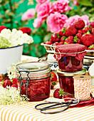 Strawberry and elderflower jam
