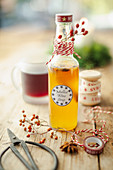 Spiced syrup for mulled wine as a gift
