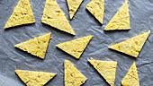 Sweet polenta slices with honey