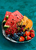 Summer fruits and berries