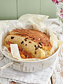 Stollen bread with sultanas