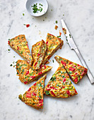 Vegetable tortilla with sweet potatoes