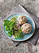 Vegan mushroom dumplings