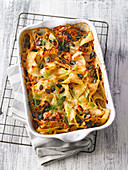 Alpine cabbage and pasta casserole (vegan)