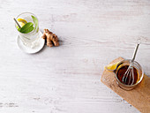 Zitronen-Ingwer-Limonade und Zitronen-Ingwer-Dressing