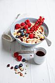 Bircher style berry muesli