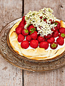 Elderflower Strawberry Tart