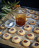 Sea buckthorn thumbprint biscuits