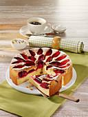 Low Carb Pflaumen-Kuchen