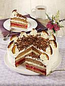 Plum cream cake