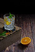 Gin and tonic with orange