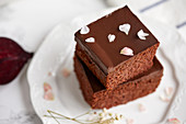 Beetroot chocolate brownie, dairy free, low carb