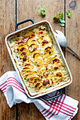 Potato casserole with sauerkraut