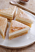 Layered apple pie with cinnamon jelly