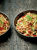 Yakisoba – fried Japanese noodles with chicken