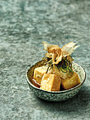 Agendashi tofu – fried tofu in dashi (Japan)