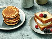 Doraiyaki und Castella - Japanischer Kuchen und gefüllte Pancakes