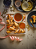 Chicken wing dippers for New Year
