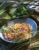Fischtartar mit Grapefruit