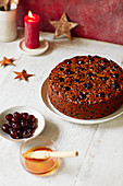 Amaretto and cherry Extra-fruity Christmas cake