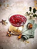 Cranberrysauce zu Weihnachten