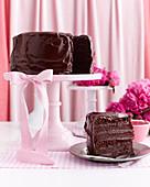 Six-layer chocolate cake