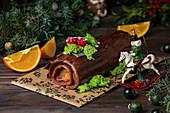 Bûche de Noel (Weihnachtskuchen)