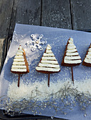 Baked cinnamon trees for Christmas