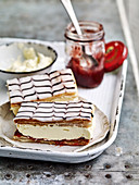 Matchsticks - Puff pastry slices with mascarpone cream