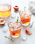 Nectarine iced tea