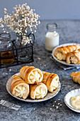 Puff pastry with custard cream