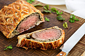 Beef Wellington (fillet of beef wrapped in puff pastry)