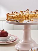 Lattice apple pie with confectionary sugar