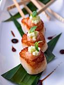 pan-seared scallops with wasabi