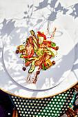 Rotbarben mit provenzalischem Gemüse
