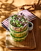 Sprout and feta salad