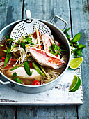 Fish, tomato and chilli Vietnamese soup
