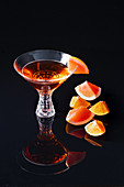 Aperol with pink grapefruit