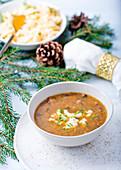 Mushrooms soup for Christmas