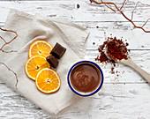 Hot chocolate with orange (vegan)
