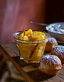 Clementine jam with lemons
