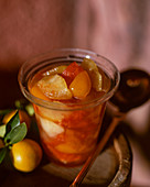 Jam with lemon, kumquat, grapefruit and apple