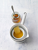 Nasal salve made from honey, olive oil and bees wax