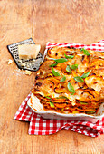 Pumpkin lasagne with parmesan